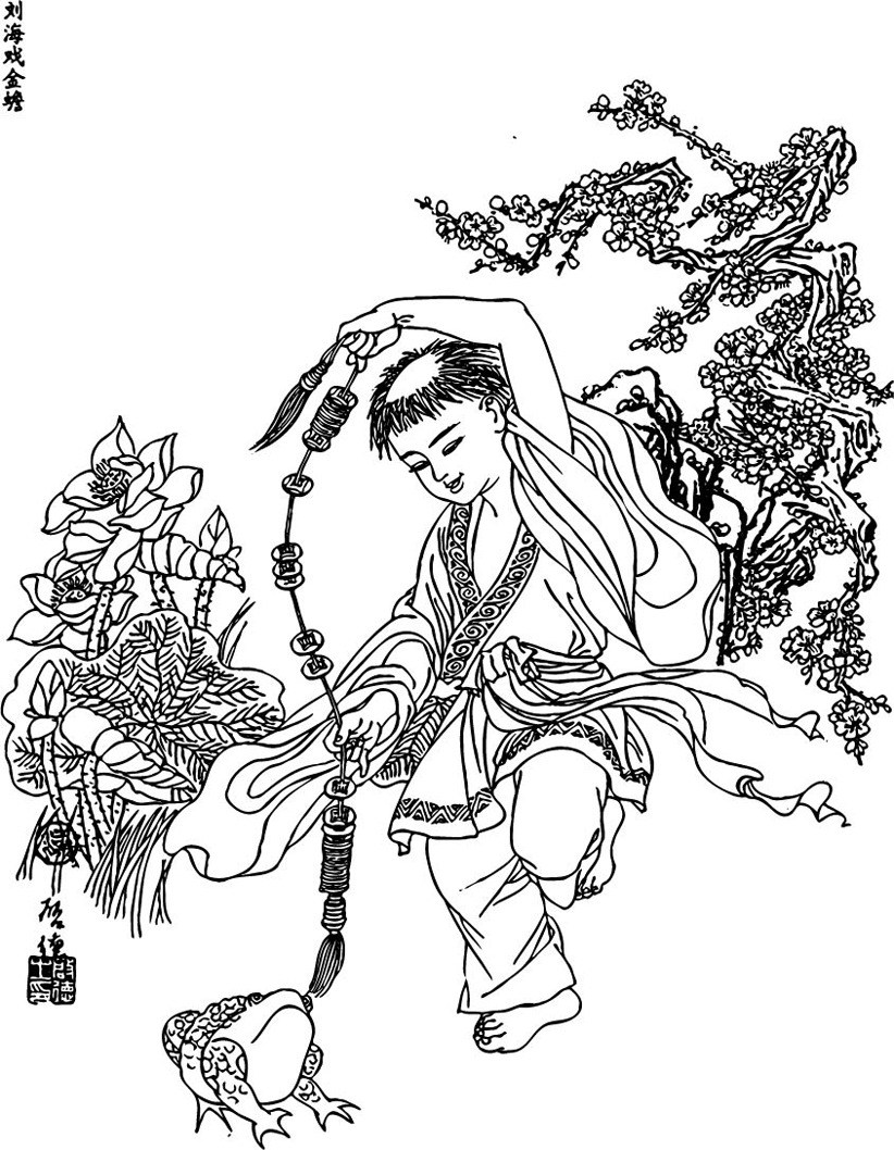 Tìm hiểu nguồn gốc và ý nghĩa sự tích Lưu Hải hí kim thiềm