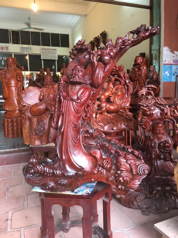 Tượng Đạt Ma gỗ trắc 100x70x34cm cực đẹp