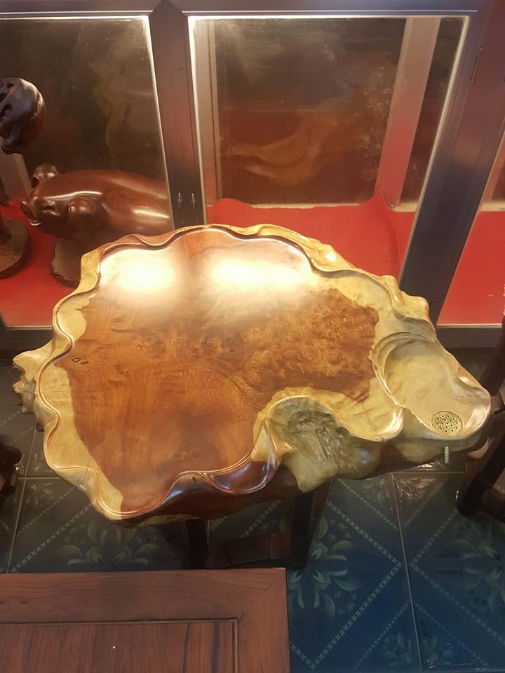 Khay trà gỗ nu hương 10x73x60cm